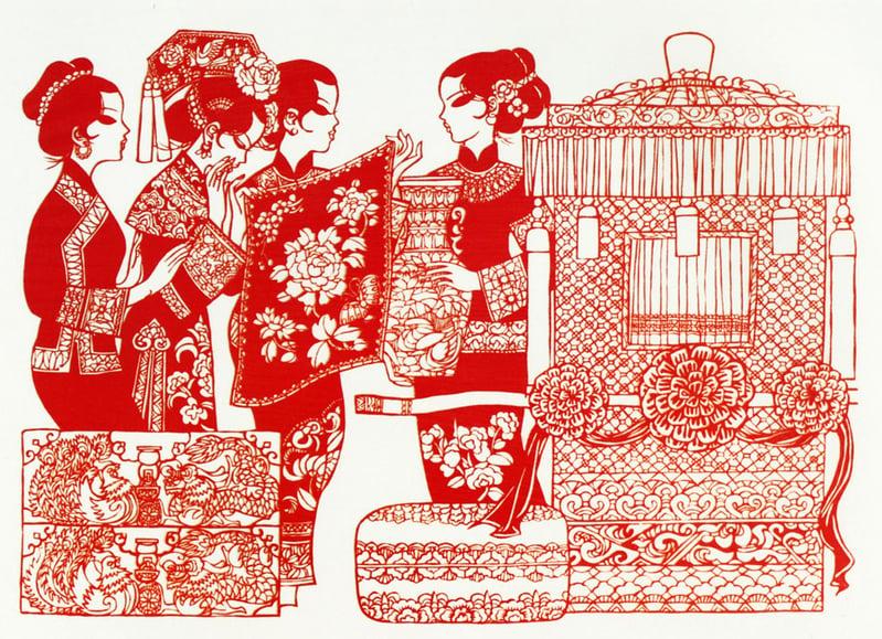 古代男女婚配時,男方必須用花轎迎親。(網路圖片)