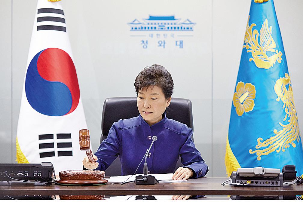 南韓總統朴槿惠突然下令徹查一件貪腐案,遭韓媒批混淆焦點。(AFP)