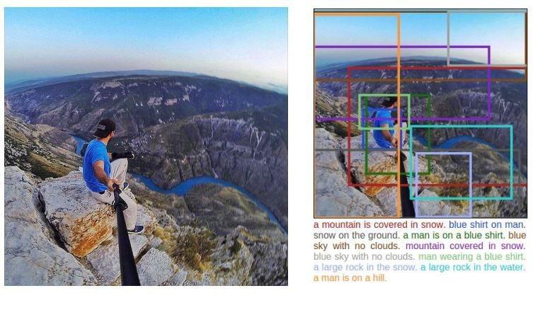 軟件試圖通過一系列定位以及圖像辨別技術,指出不安全的位置,警告極限自拍者可能面臨的生命危險。(網絡圖片)