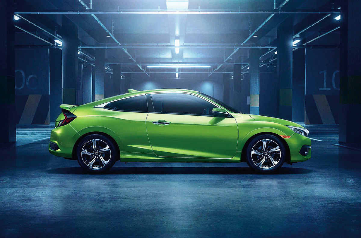 Civic Coupe運動型流線車身,動感與操控的完美結合,再加上良好的性價比,使今年的款式更加受年輕一代的喜愛。
