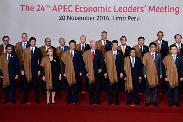 備受關注的亞太經合組織(APEC)峰會周日(20日)在秘魯首都利馬落幕。(AFP PHOTO / Martin BERNETTI)