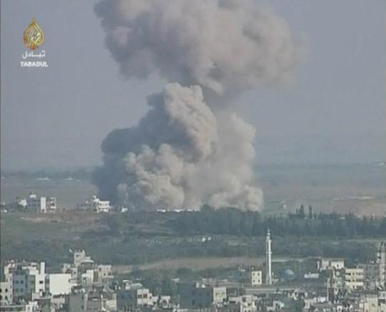 圖為加沙地區的衝突。(維基百科)