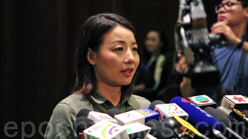 對於梁振英要求律政司研究提出覆核,劉小麗相信在議員及市民的團結下,能為香港守住司法獨立。(蔡雯文/大紀元)