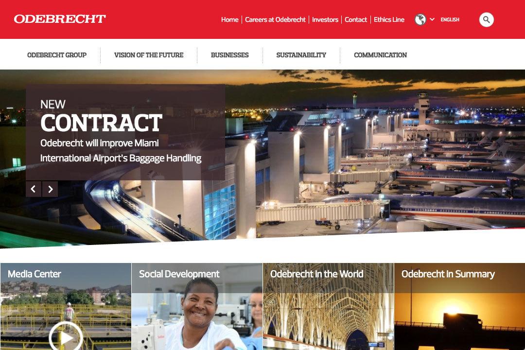 巴西規模最大建設公司Odebrecht的數十位行政主管,今天開始與共和國總檢查院簽署告密有賞協定,以配合國營巴西石油公司貪瀆調查行動。(Odebrecht網頁)
