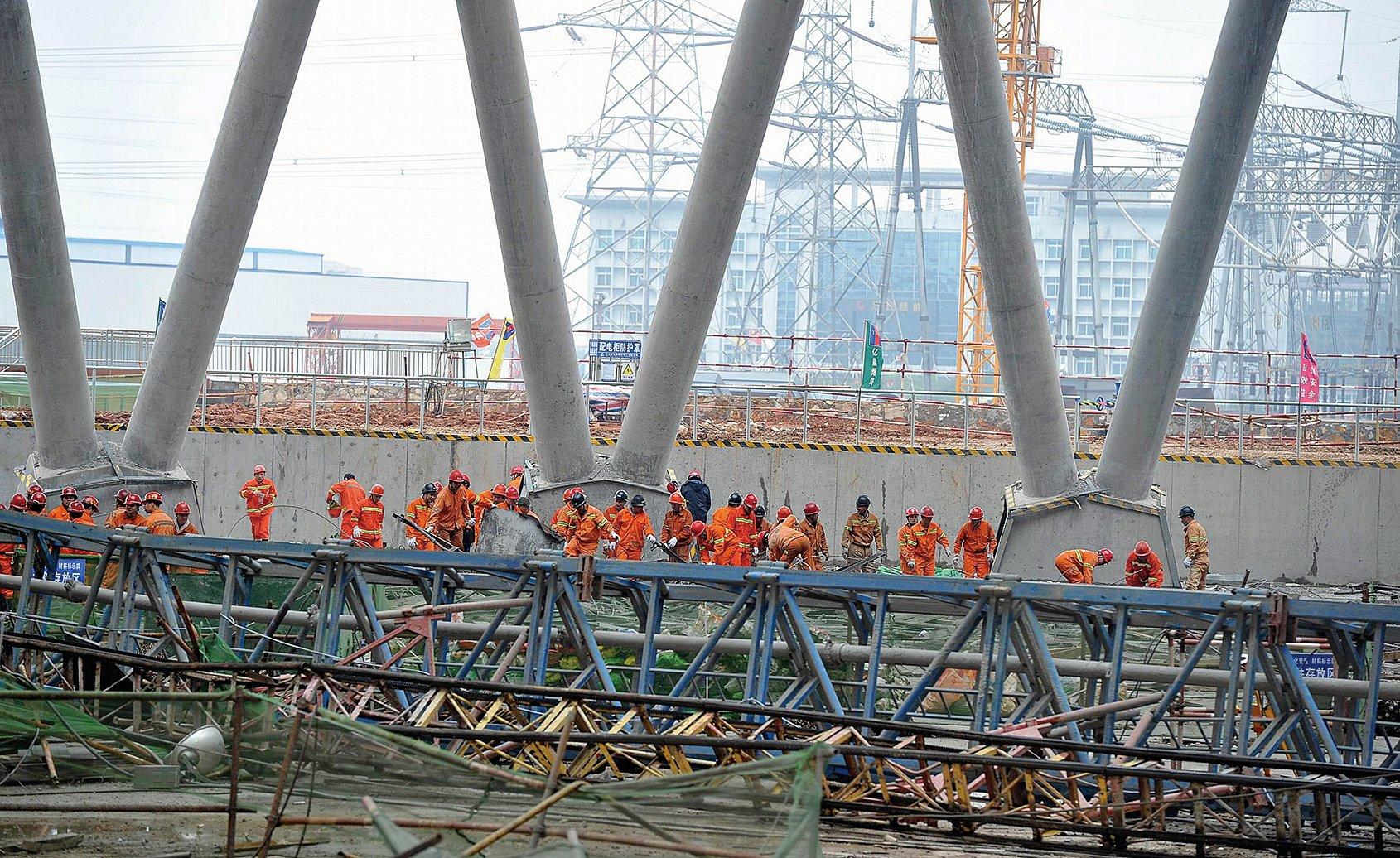 圖為2016年11月24日江西省豐城發電廠工地的一角。(Getty Images)