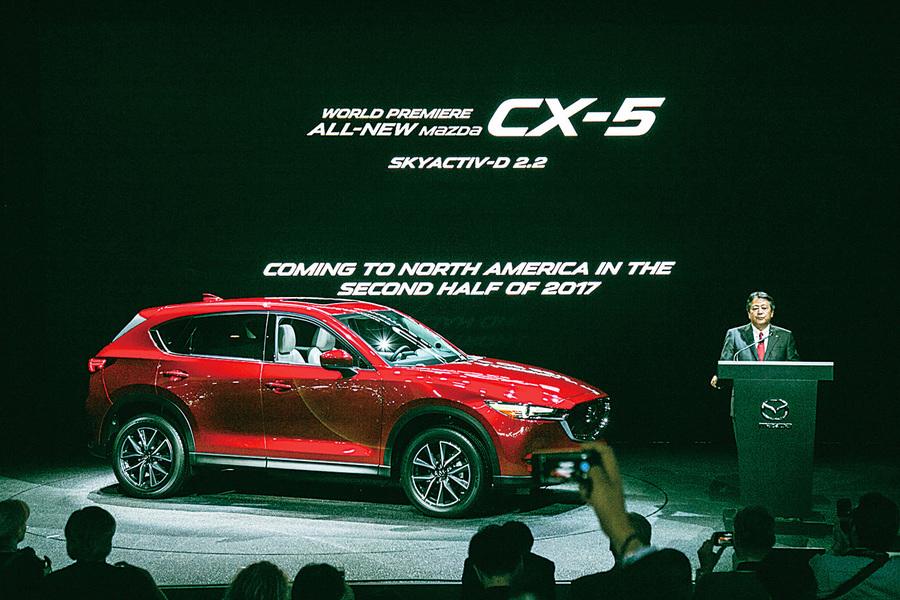 增加柴油引擎第二代Mazda CX-5洛杉磯車展亮相