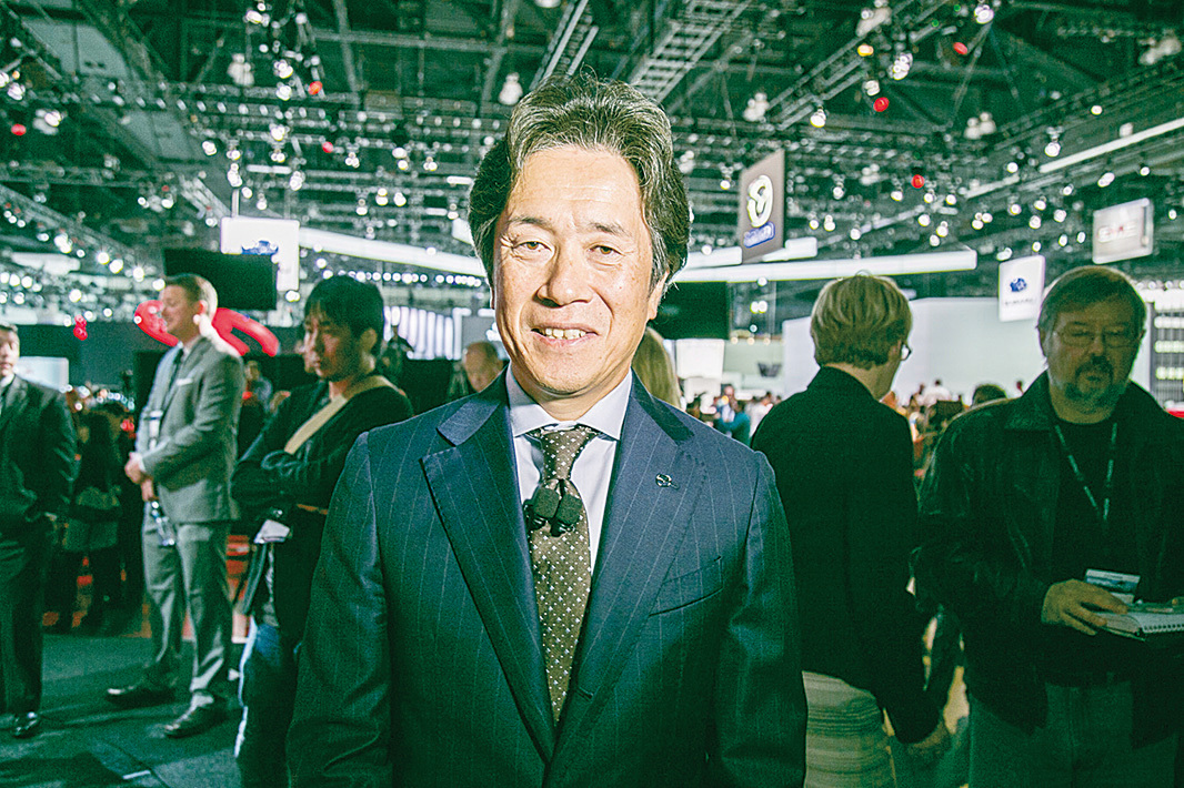 Mazda北美運營和管理執行官Masahiro Moro接受《 大紀元》記者採訪。(曹景哲/大紀元)