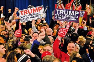 美國總統初選 新州特朗普和桑德斯勝出