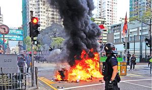 旺角衝突 警搜捕示威者