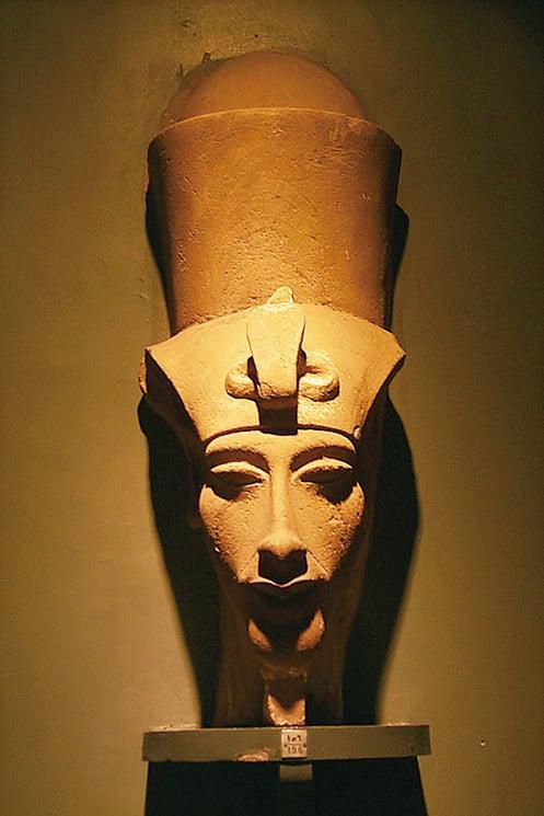 收藏於埃及盧克索博物館的阿肯那頓頭像。(網絡圖片)