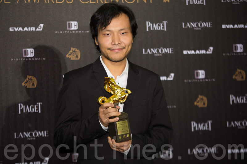 以傘運題材影片,獲得金馬獎「最佳劇情短片」的中國導演應亮,在獲獎後接受本報採訪。(大紀元資料圖片)