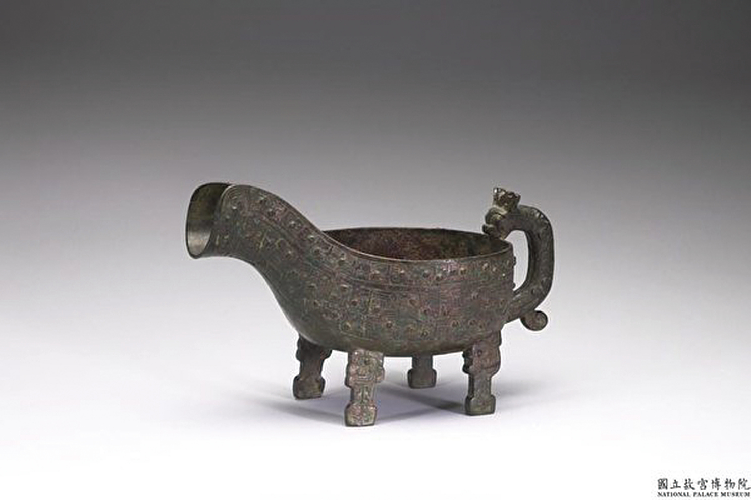 春秋-匽公匜。(國立故宮博物院)