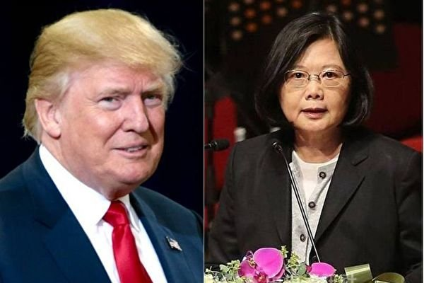 週五,美國當選總統當奴•特朗普和中華民國總統蔡英文直接通電話。(大紀元合成圖)