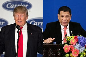 特朗普與菲總統談北韓 邀杜特爾特到白宮