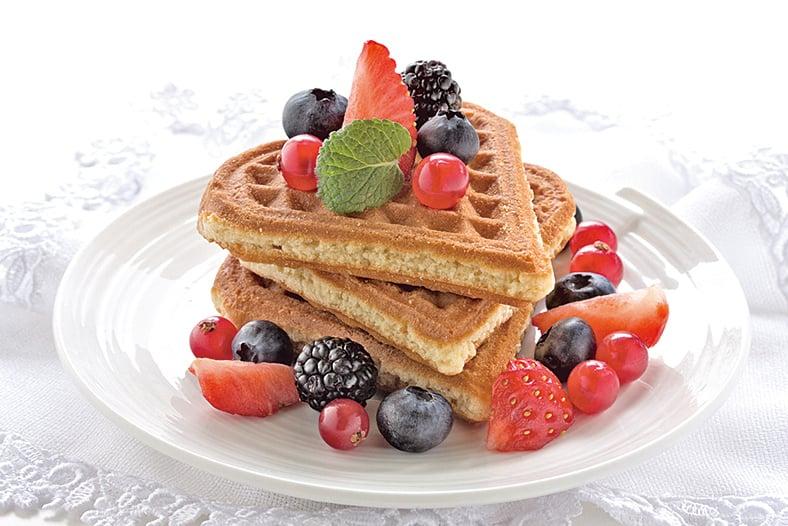 選擇格子鬆餅開啟早晨,可保一整天好心情。