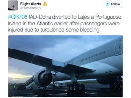 遭遇亂流 卡塔爾航空客機迫降亞速爾群島