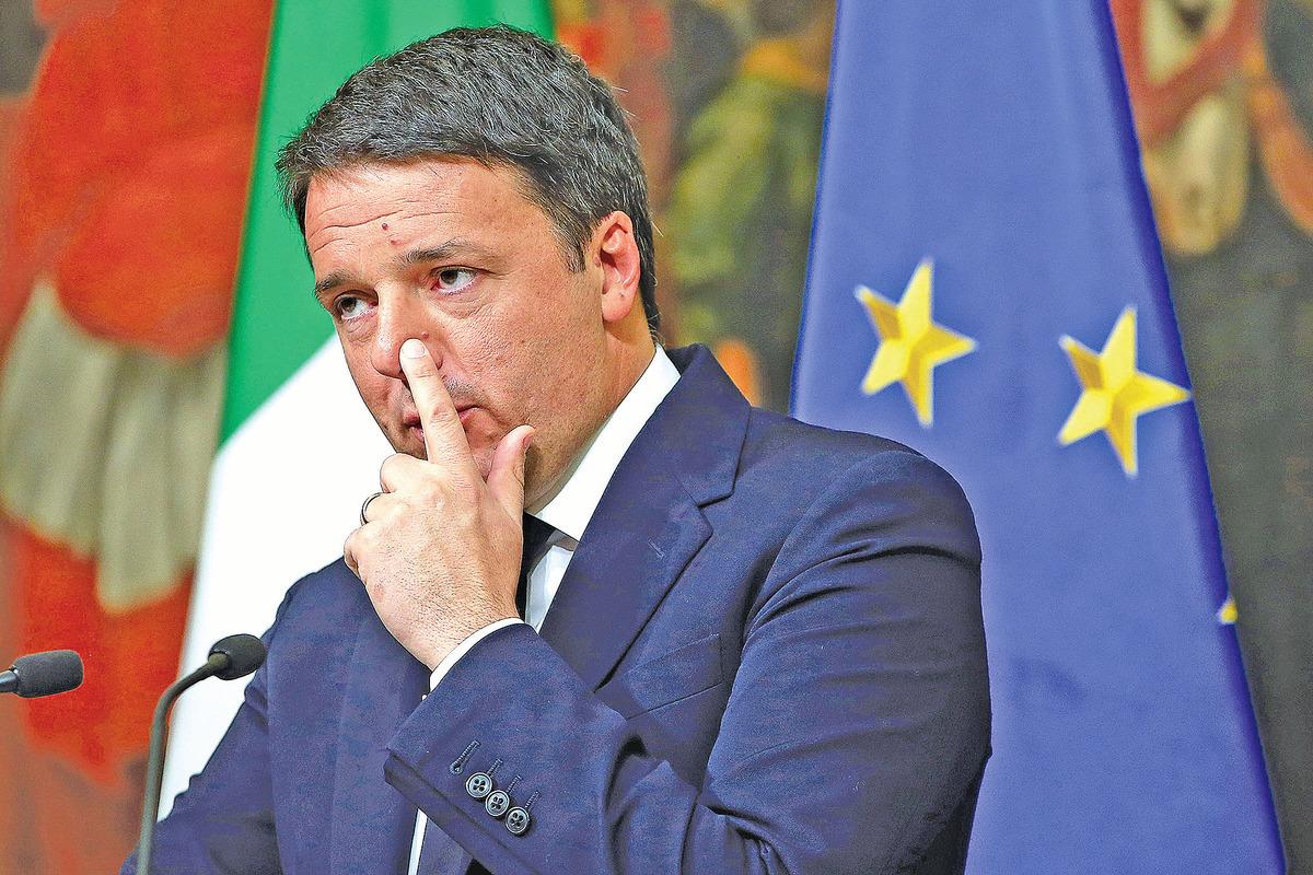 公投失利後,意大利總理倫齊宣布辭職。(Getty Images)