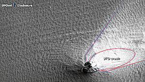 火星照片現心型UFO 網友熱議外星生命