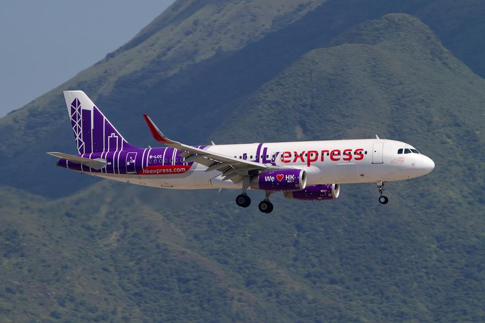 圖為香港快運航空一架空中巴士A320客機。(香港快運航空)