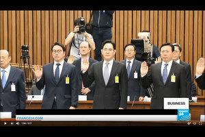 捲入干政醜聞 韓八大企業領袖被國會議員質詢