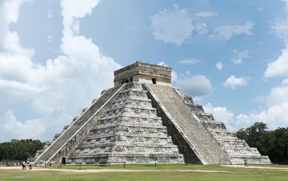 瑪雅金字塔。(Daniel Schwen/維基百科)