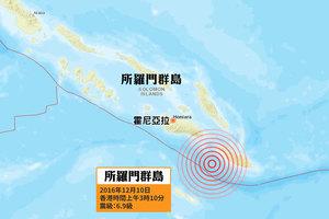所羅門群島外海6.9級強震