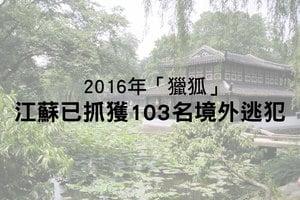 2016年「獵狐」 江蘇已抓獲103名境外逃犯