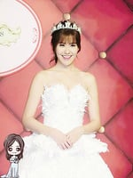 劉佩玥出席聖誕婚紗展   幻想與彭于晏行紅地毯