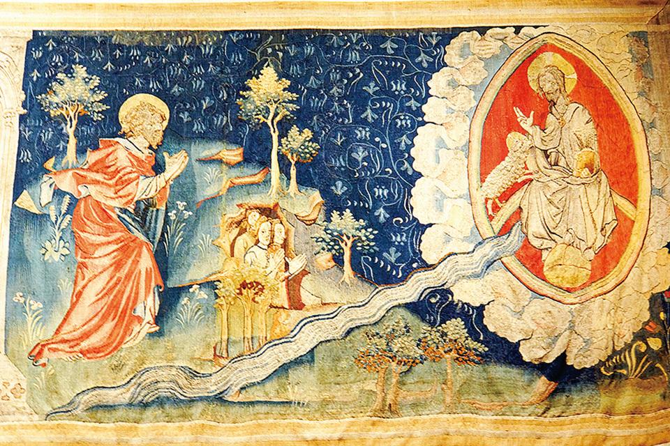 《啟示錄》第六組壁毯中描述:一道生命水的河,明亮如水晶,從神的寶座流出來。在河的兩邊有生命樹,生產十二樣果子,每月結新果,樹上的葉子醫治萬民。不再有黑夜,因神來做光照。神所救贖的人要做王,直到永永遠遠。