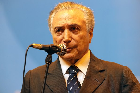 儘管巴西總統特梅爾(圖)政府成立的時間不長,卻因國家深陷政治經濟危機,人民置身水深火熱之中。(Chris Graythen/Getty Images)