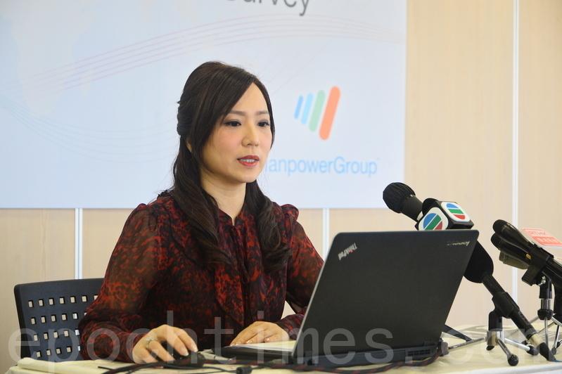 ManpowerGroup大中華高級副總裁徐玉珊表示,本地僱主明年的平均加薪幅度是2%至4%。(宋祥龍/大紀元)