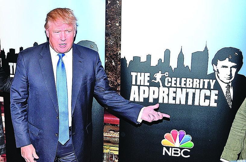 特朗普出席《名人學徒》節目聚會。(Getty Images)