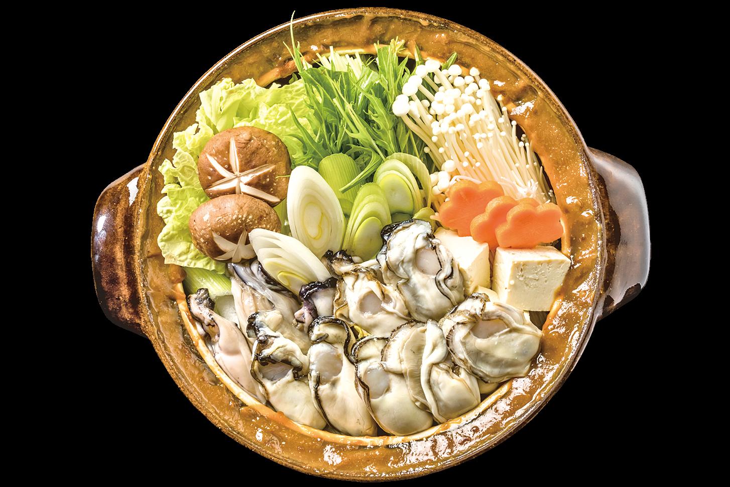 冬季日本常見的蠔鍋。