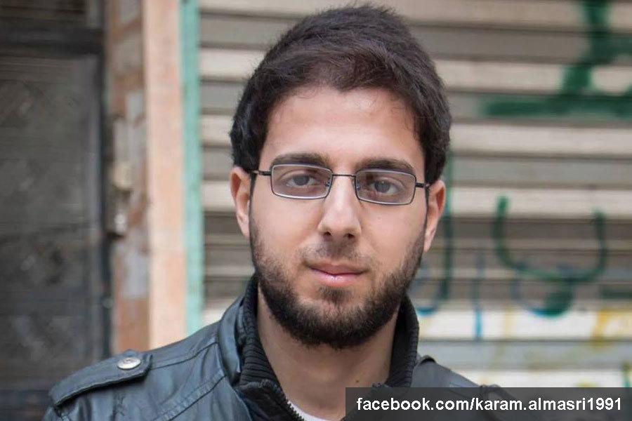 法新社記者馬士禮(Karam al-Masri)。(馬士禮Facebook/facebook.com/karam.almasri1991)