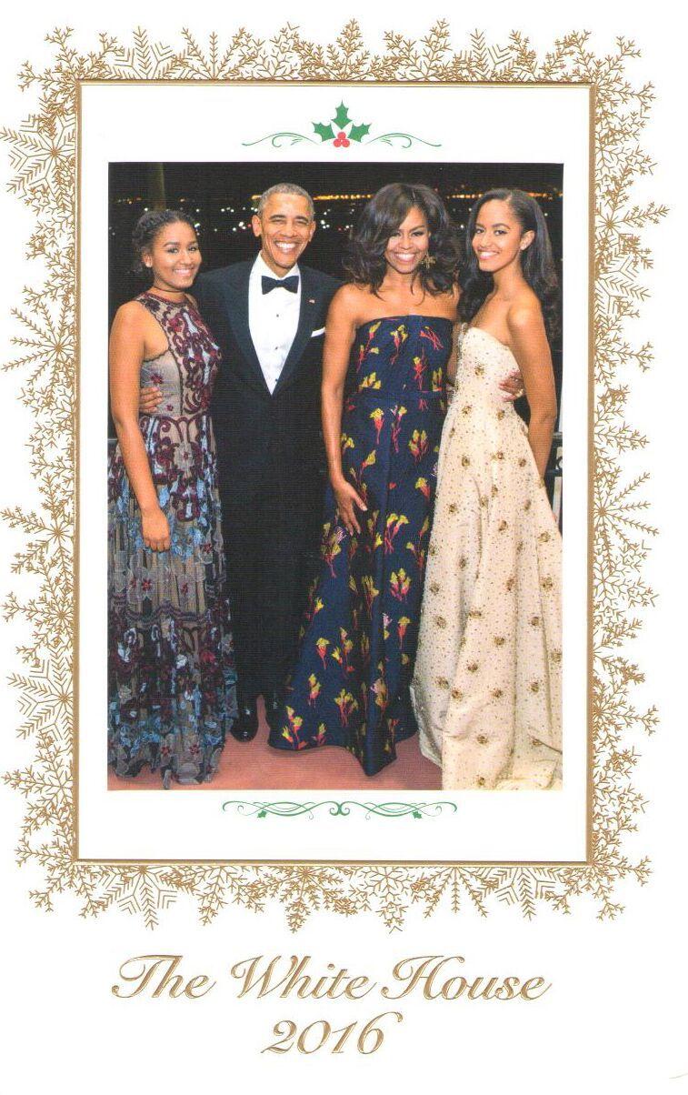 12月13日,大紀元時報華盛頓分社收到來自美國白宮的節日賀卡。(大紀元)
