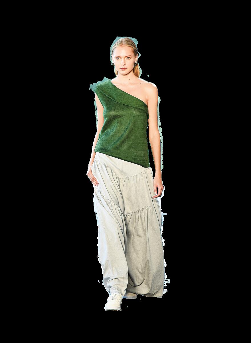 寬鬆的長褲會蓋住運動鞋,除非長褲布料輕盈,走路的時候可以露出鞋子。