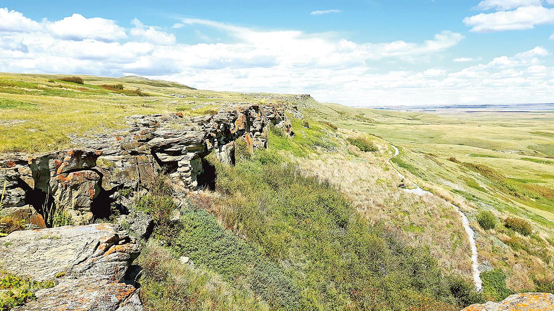 加拿大亞省的野牛碎頭崖入選世界人類文化遺產名錄。(圖/Sunny)