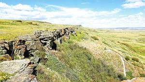 加拿大印第安人的野牛碎頭崖