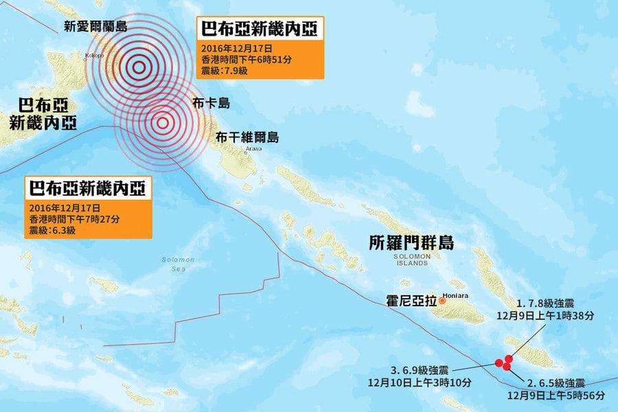 巴布亞新畿內亞7.9級強震 海嘯警報解除