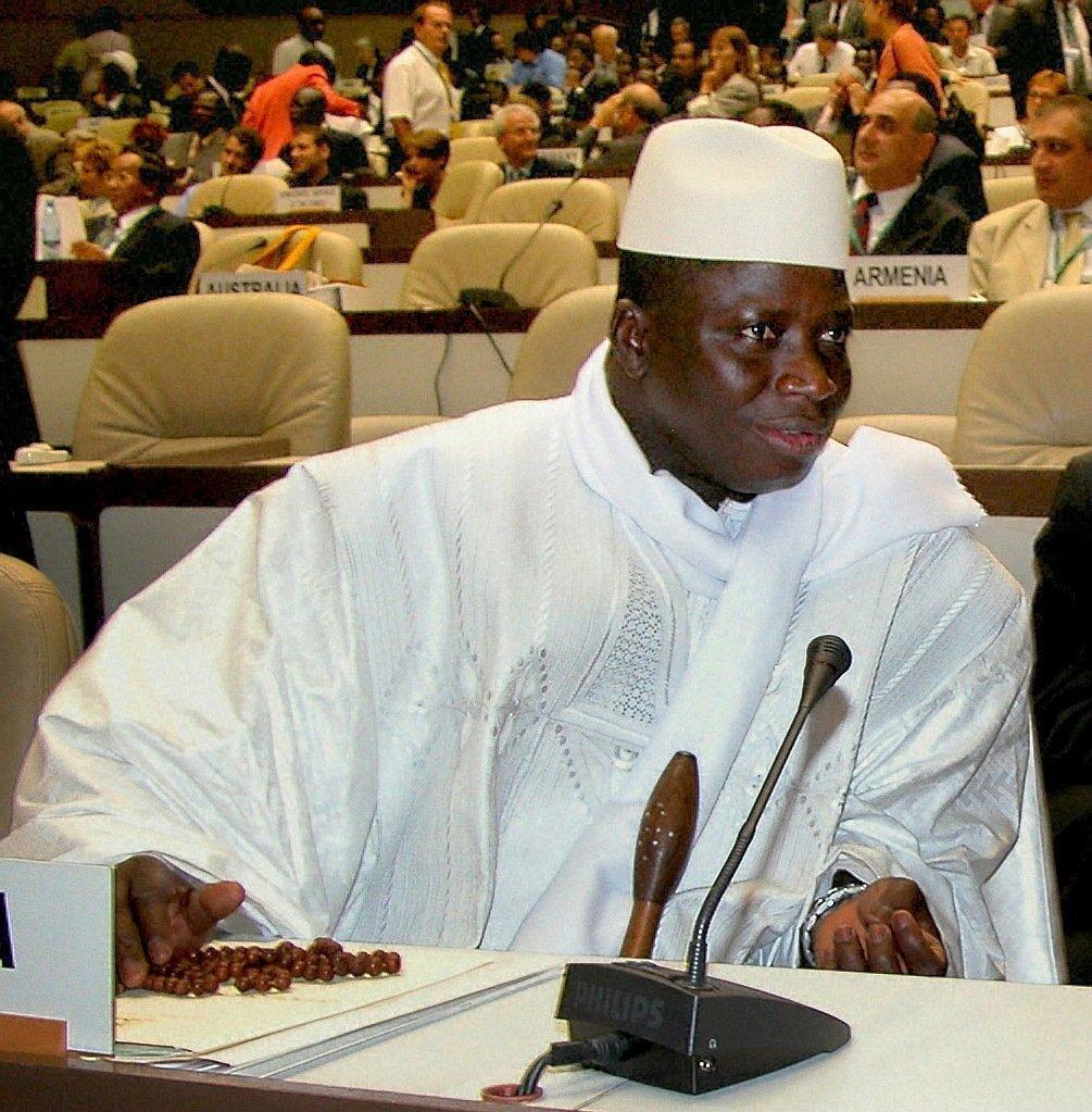 岡比亞總統賈梅(Yahya Jammeh)。(Wikicommons)