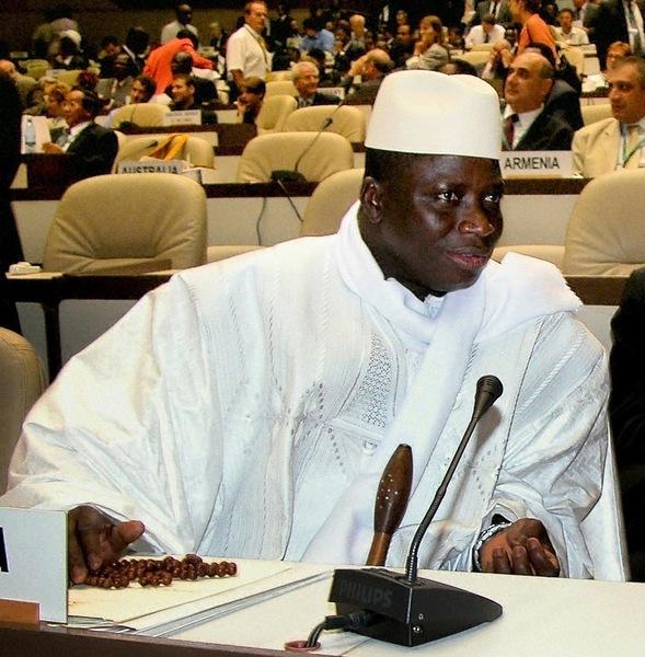 岡比亞強人賈梅 終於宣佈和平下台