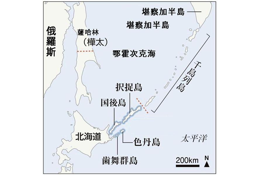 六成日本人贊成四島上的共同經濟活動