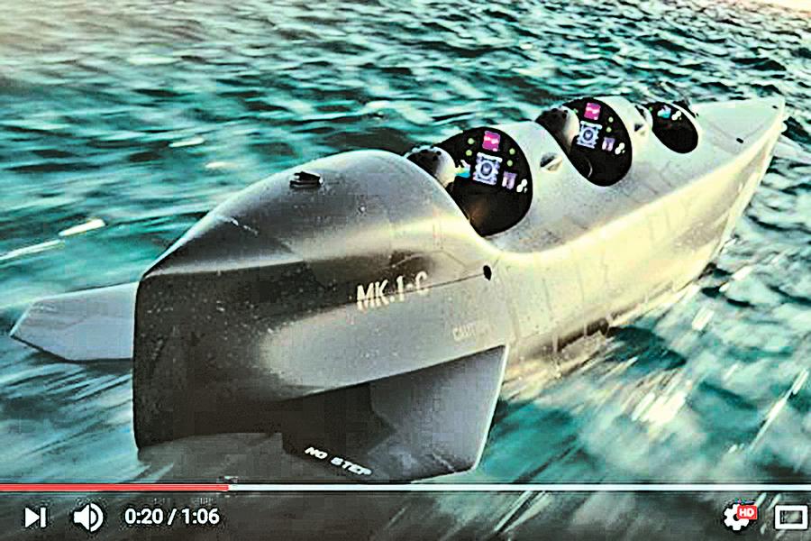 荷蘭公司推出個人專用潛水艇