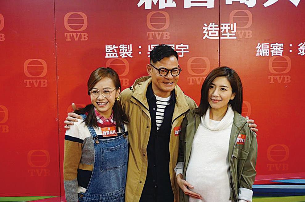 黃心穎、黃智賢與黃智雯在劇中各自的造型亮相。(黃智雯facebook)