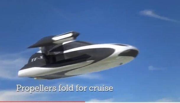 美國波士頓特拉福嘉公司(Terrafugia)表示,將在2018年推出飛天汽車實體測試車,未來八年內能夠量產出售。(視像擷圖)