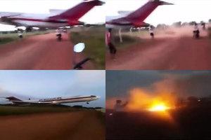 哥倫比亞貨機起飛三分鐘後墜毀 五死一傷