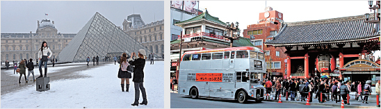 受歐洲恐襲陰影等影響,港人赴法國(左)等西歐國家旅遊意欲轉弱,而短線的日本(右)等國則繼續成為大熱目的地。(Getty Images)