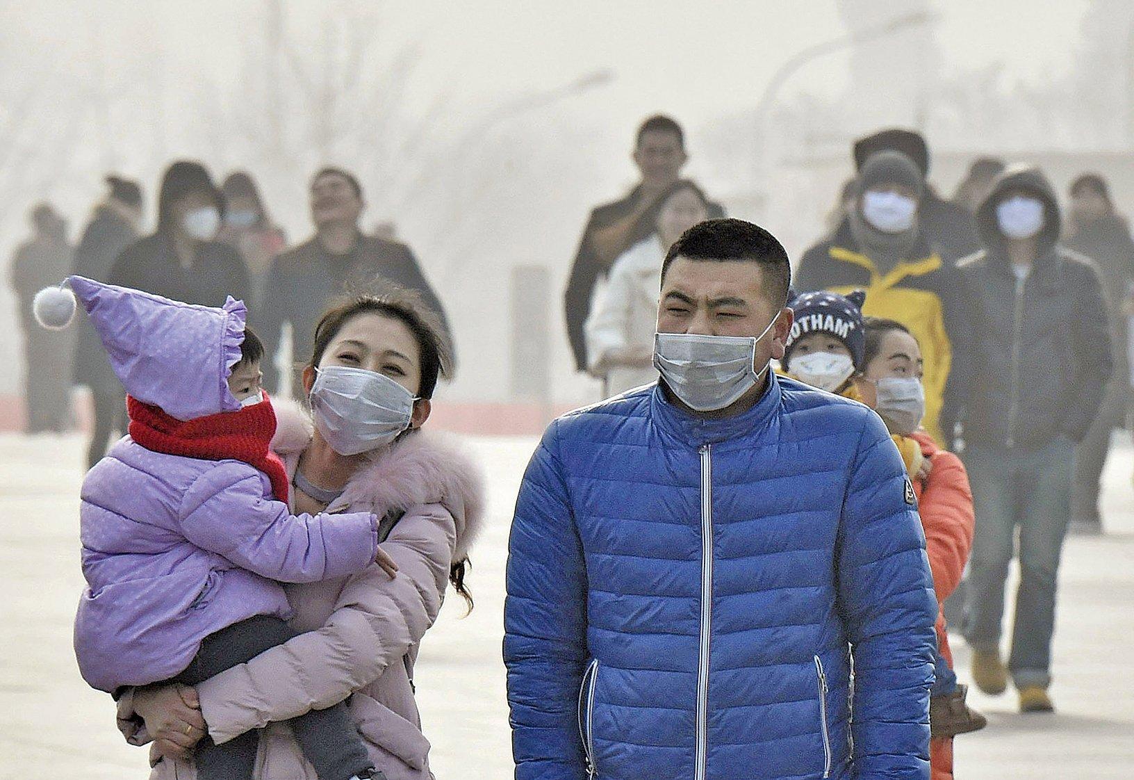 中國北方近年深陷陰霾污染,但今年霾害嚴重,影響地區佔國土面積六分之一。(大紀元資料圖片)