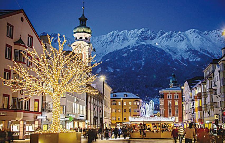 名山秀水的不斷滋養讓因斯布魯克(Innsbruck)出落得如仙境一般,一年四季都吸引著來自世界各地的遊客。(因斯布魯克旅遊局提供)