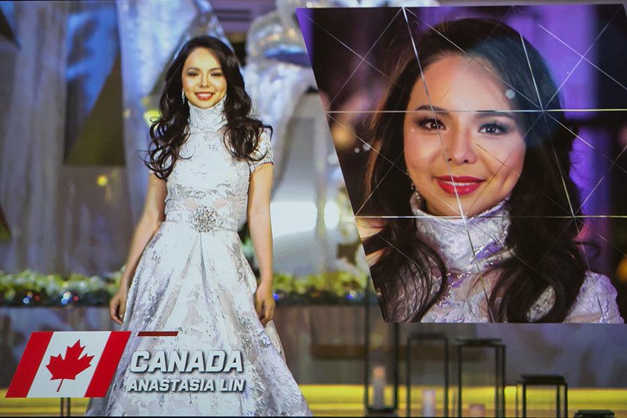 加拿大世界小姐林耶凡參選世界小姐決賽的自我介紹短片。(李莎/大紀元)